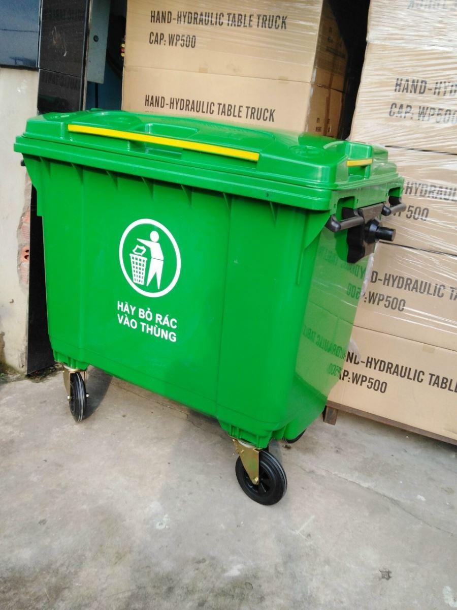 Thùng rác nhựa công cộng 660L HDPE