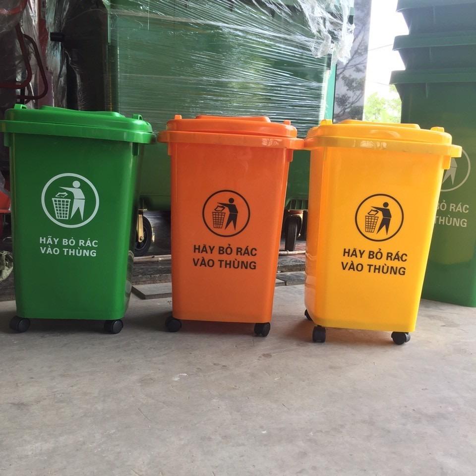 Thùng rác nhựa HDPE 60 lít công cộng