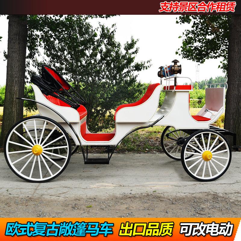 Xe ngựa tham quan phong cách Châu Âu chụp ảnh cưới du lịch mời chào xe ngựa tiếp tân bất động sản có thể đổi thành xe ngựa điện